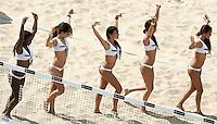 Campionati mondiali di beach volley a Roma, 14 giugno 2011..Cheerleaders perform during the Beach Volleyball World Championship in Rome, 14 june 2011..UPDATE IMAGES PRESS/Riccardo De Luca