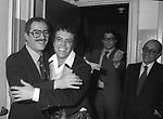 "NINO MANFREDI CON ENRICO MONTESANO E LELLO BERSANI -  ""RUGANTINO"" TEATRO SISTINA ROMA 1974"
