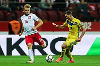 04.09.2017, Warszawa, pilka nozna, kwalifikacje do Mistrzostw Swiata 2018, Polska - Kazachstan, Jakub Blaszczykowski (POL), Dmitri Shomko (KAZ), Poland - Kazakhstan, World Cup 2018 qualifier, football, fot. Tomasz Jastrzebowski / Foto Olimpik<br /><br />POLAND OUT !!!! *** Local Caption *** +++ POL out!! +++<br /> Contact: +49-40-22 63 02 60 , info@pixathlon.de