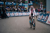 rqace winner European U23 CX Champion Ceylin del Carmen Alvarado (NED/Corendon-Circus) crossing the finish line<br /> <br /> Brussels Universities Cyclocross (BEL) 2019<br /> Women's Race<br /> DVV Trofee<br /> ©kramon