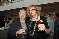Michel Tremblay  et Michelle Blanc  au Gala Phenicia 2018, le jeudi 31 mai 2018, au Parquet de la Caisse de Depot et Placements du Quebec<br /> <br /> PHOTO : Agence Quebec Presse