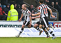ST MIRREN'S AARON MOOY CELEBRATES AFTER HE SCORES ST MIRREN'S FIRST