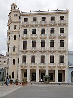 Cuba, Havana.  Building on Plaza Vieja.  Camera Obscura on Top Floor.
