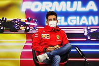 26th August 2021; Spa Francorchamps, Stavelot, Belgium: FIA F1 Grand Prix of Belgium, driver arrival day:  16 Charles Leclerc MON, Scuderia Ferrari Mission Winnow