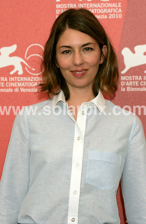 **ALL ROUND PICTURES FROM SOLARPIX.COM**.**SYNDICATION RIGHTS FOR UK AND SPAIN ONLY**.Sofia Coppola at Somewhere photocall at the 67th Venice International Film Festival Venice, Italy. 3 September 2010.This pic: Sofia Coppola..JOB REF: 12046 CPR  Heinz      DATE: 03_09_2010.**MUST CREDIT SOLARPIX.COM OR DOUBLE FEE WILL BE CHARGED**.**MUST NOTIFY SOLARPIX OF ONLINE USAGE**.**CALL US ON: +34 952 811 768 or LOW RATE FROM UK 0844 617 7637**