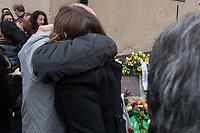 """Gedenken an Ehrenmord-Opfer Hatun Sueruecue in Berlin-Tempelhof am Dienstag den 7. Februar 2020.<br /> Die 21jaehrige Deutsch-Kurdin wurde am 7.2.2005 von ihrer Familie ermordet, weil sie sich nicht an die """"traditionellen Familienwerte"""" halten und ein selbsbestimmtes Leben fuehren wollte. Sie hat gegen den Willen Ihrer Familie ine Ausbildung zur Elektroinstallatoerin gemacht hat und mit ihrem unehelichen Kind.<br /> Der Mord wurde in Abstimmung mit der Familie von ihren Bruedern durchgefuehrt, als Taeter wurde der damals minderjaehriger Bruder vorgeschickt. Zwei Brueder fluechteten in die Tuerkei.<br /> 7.2.2020, Berlin<br /> Copyright: Christian-Ditsch.de<br /> [NUR FUER REDAKTIONELLE ZWECKE! Werbung nur auf Anfrage beim Fotografen. Inhaltsveraendernde Manipulation des Fotos nur nach ausdruecklicher Genehmigung des Fotografen. Vereinbarungen ueber Abtretung von Persoenlichkeitsrechten/Model Release der abgebildeten Person/Personen liegen nicht vor. NO MODEL RELEASE! Don't publish without copyright Christian-Ditsch.de, Veroeffentlichung nur mit Fotografennennung, sowie gegen Honorar, MwSt. und Beleg. Konto: I N G - D i B a, IBAN DE58500105175400192269, BIC INGDDEFFXXX, Kontakt: post@christian-ditsch.de<br /> Bei der Bearbeitung der Dateiinformationen darf die Urheberkennzeichnung in den EXIF- und  IPTC-Daten nicht entfernt werden, diese sind in digitalen Medien nach §95c UrhG rechtlich geschuetzt. Der Urhebervermerk wird gemaess §13 UrhG verlangt.]"""
