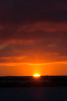Sunset at the Tundra Buggy Lodge