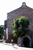 The old church converted into wine cellar and shop. Cave cooperative Cellier des Dominicains, Collioure. Collioure. Roussillon. France. Europe.