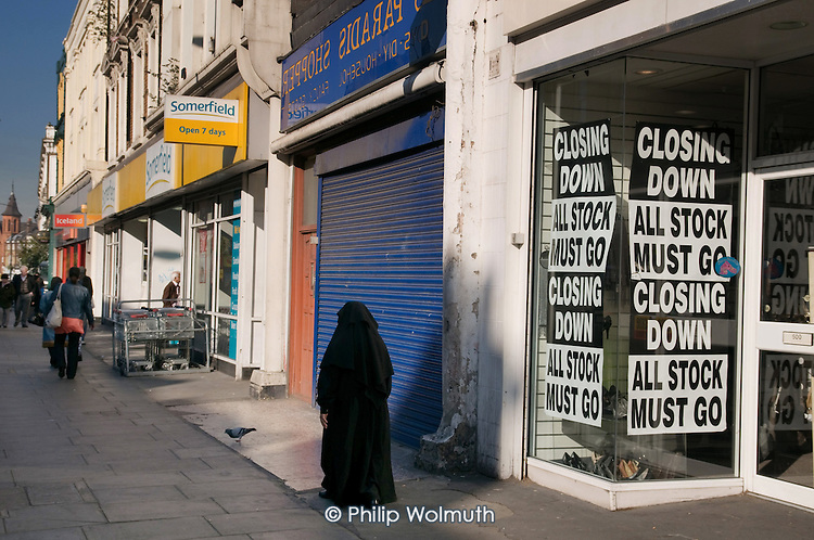 Closed and closing shops on the Harrow Road, London W9