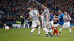 Fraser Aird scores the winning goal for Rangers in the 91st minute