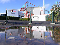 31st October 2020; Vitality Stadium, Bournemouth, Dorset, England; English Football League Championship Football, Bournemouth Athletic versus Derby County; General View of Vitality Stadium after heavy rain