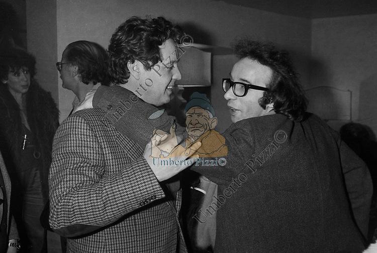 RENATO POZZETTO CON ROBERTO BENIGNI  FIRENZE 1980