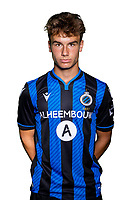 20th August 2020, Brugge, Belgium;  Yari Stevens pictured during the team photo shoot of Club Brugge NXT prior the Proximus league football season 2020 - 2021 at the Belfius Base camp