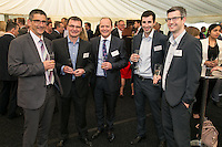 Left to right areNigel Wilson, Russell Kilner and Carl Dickinson all of Yorkshire Bank with Jack Wilcock and Craig Walker both of KPMG