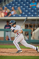 Matt Szczur (8) of the Reno Aces bats against the Nashville Sounds at Greater Nevada Field on June 5, 2019 in Reno, Nevada. The Aces defeated the Sounds 3-2. (Stephen Smith/Four Seam Images)