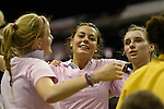 Berlin, Germany, February 01: Selin Oruz #14 of Duesseldorfer HC celebrates after defeating HTC Uhlenhorst Muehlheim 4-1 to win the Deutsche Meisterschaft on February 1, 2015 at the Final Four tournament at Max-Schmeling-Halle in Berlin, Germany. Final score 4-1 (1-0). (Photo by Dirk Markgraf / www.265-images.com) *** Local caption ***