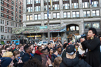 Black Lives Matter Boston MA 12.4.14 thousands protesting after New York Grand Jury fails to indict  white NYC police officer Daniel Pantaleo in the chokehold caused death of unarmed black man Eric Garner. Protests also took place in NYC, Pittsburgh, Washington DC, Philadelphia, Atlanta,<br /> Chicago, Detroit, Denver and Minneapolis.