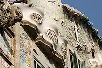 Spanien, Barcelona, Casa Batllo, Passeig de Gracia 43 erbaut 1903-1904 von Antoni Gaudi, Unesco-Weltkulturerbe