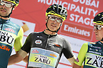 Sign on before Stage 2 the Dubai Municipality Stage of the UAE Tour 2020 running 168km from Hatta to Hatta Dam, Dubai. 24th February 2020.<br /> Picture: LaPresse/Fabio Ferrari   Cyclefile<br /> <br /> All photos usage must carry mandatory copyright credit (© Cyclefile   LaPresse/Fabio Ferrari)