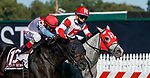 October 3, 2020: Don Juan Kitten #10, ridden by jockey Gabriel Saez, wins the James W. Murphy Stakes during Preakness Stakes Day at Pimlico Race Course in Baltimore, Maryland. Scott Serio/Eclipse Sportswire/CSM