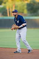 AZL Brewers second baseman Julian Jarrard (39) on defense against the AZL Dodgers on July 25, 2017 at Camelback Ranch in Glendale, Arizona. AZL Dodgers defeated the AZL Brewers 8-3. (Zachary Lucy/Four Seam Images)