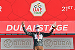 Tony Gallopin (FRA) AG2R Citroen Team retakes the Black Jersey at the end of Stage 6 of the 2021 UAE Tour running 165km from Deira Island to Palm Jumeirah, Dubai, UAE. 26th February 2021.<br /> Picture: LaPresse/Gian Mattia D'Alberto   Cyclefile<br /> <br /> All photos usage must carry mandatory copyright credit (© Cyclefile   LaPresse/Gian Mattia D'Alberto)