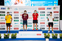 ( L to R, silver, gold, bronze)  FUSCO Alessandro; GIORGETTI Edoardo, KOCH Marco; CASTELLO Andrea<br /> 200 Breaststroke Men PODIUM<br /> Roma 13/08/2020 Foro Italico <br /> FIN 57 LVII Trofeo Sette Colli - Campionati Assoluti 2020 Internazionali d'Italia<br /> Photo Giorgio Scala/DBM/Insidefoto