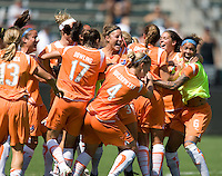 Sky Blue FC's celebrates after a 1-0 victory over the LA Sol to win the WPS Championship match at the Home Depot Center, Saturday, August 22, 2009.