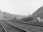 Corliss PA - View of the accident site near the train station at Corliss Pennsylvania.  The assignment was for the PA Railroad due to a train derailment near the station.  Brady Stewart Studio was a contract photography studio for the railroad from 1955 through 1965.