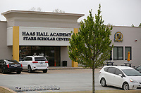 Haas Hall Academy Starr Scholar Center Tuesday, April 27, 2021, on the campus in Fayetteville. Haas Hall in Fayetteville has been selected as the best school in Arkansas by U.S. News and World Report. Check out nwaonline.com/210428Daily/ and nwadg.com/photos for a photo gallery.<br /> (NWA Democrat-Gazette/David Gottschalk)