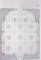 Plan of Bibliotheque Nationale, Paris. Henri Labrouste, 1857-67.