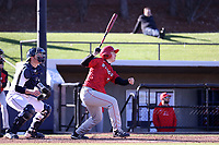 GREENSBORO, NC - FEBRUARY 25: Dylan Reynolds #11 of Fairfield University hits the ball during a game between Fairfield and UNC Greensboro at UNCG Baseball Stadium on February 25, 2020 in Greensboro, North Carolina.
