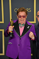 LOS ANGELES, USA. February 09, 2020: Elton John at the 92nd Academy Awards at the Dolby Theatre.<br /> Picture: Paul Smith/Featureflash