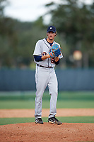 Detroit Tigers pitcher Max Green (65) gets ready to deliver a pitch during an Instructional League game against the Atlanta Braves on October 10, 2017 at the ESPN Wide World of Sports Complex in Orlando, Florida.  (Mike Janes/Four Seam Images)