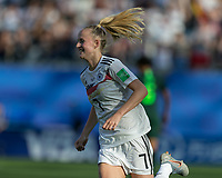 GRENOBLE, FRANCE - JUNE 22: Lea Schueller #7 of the German National Team goal celebration during a game between Panama and Guyana at Stade des Alpes on June 22, 2019 in Grenoble, France.