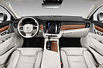 Stock photo of straight dashboard view of a 2019 Volvo S90 T6 Inscription 4 Door Sedan