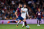 David Rodriguez Lomban (r) of SD Eibar battles for the ball with Isco Alarcon of Real Madrid during the La Liga 2017-18 match between Real Madrid and SD Eibar at Estadio Santiago Bernabeu on 22 October 2017 in Madrid, Spain. Photo by Diego Gonzalez / Power Sport Images