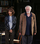 """Megalyn Echikunwoke and John Tillinger during the Opening Night Curtain Call Bows for the Roundabout Theatre Company production of """"Apologia"""" on October 16, 2018 at the Laura Pels Theatre in New York City."""