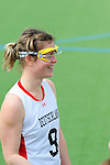 FRANKFURT AM MAIN, GERMANY - April 14: Kristina Schaefer #9 of Germany during the match of Germany vs Great Britain at the Deutschland Lacrosse International Tournament on April 14, 2013 in Frankfurt am Main, Germany. Great Britain won, 10-9. (Photo by Dirk Markgraf)