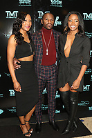 MIAMI, FL - FEBRUARY 19: Shantee Wright, Floyd Mayweather and Mena Wright attend  his 44th futuristic Birthday Party at Casablanca on the Bay on February 19, 2021 in Miami, Florida. Photo Credit: Walik Goshorn/Mediapunch