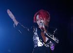 JYJ, Aug 09, 2014 : Junsu of South Korean boy band JYJ performs during their 2014 Asia Tour 'The Return of The King' Concert at Jamsil stadium in Seoul, South Korea.  (Photo by Lee Jae-Won/AFLO) (SOUTH KOREA)