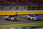 #4: Todd Gilliland, Kyle Busch Motorsports, Toyota Tundra JBL/SiriusXM and #21: Johnny Sauter, GMS Racing, Chevrolet Silverado Allegiant