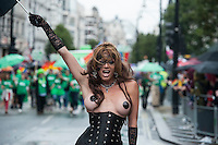 Gay Pride Parade in central london 28-6-14