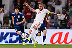 Seyed Ashkan Dejagah of Iran (C) in action during the AFC Asian Cup UAE 2019 Semi Finals match between I.R. Iran (IRN) and Japan (JPN) at Hazza Bin Zayed Stadium  on 28 January 2019 in Al Alin, United Arab Emirates. Photo by Marcio Rodrigo Machado / Power Sport Images
