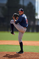 Atlanta Braves pitcher Luis Gamez (8) during an instructional league game against the Houston Astros on October 1, 2015 at the Osceola County Complex in Kissimmee, Florida.  (Mike Janes/Four Seam Images)