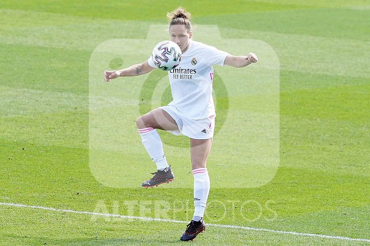 First official match and first classic in the history of women's Real Madrid.<br /> Real Madrid's Babett Peter during Spanish Female League match. October 4,2020. (ALTERPHOTOS/Acero)