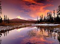 Big Lake and Mt. Washington with fall snowfall, Oregon