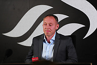 Swansea City's Manager Steve Cooper during his first Swansea City Press Conference at The Liberty Stadium in Swansea, Wales, UK.  June 18, 2019