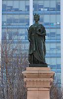 march, 2013  file photo - Queen Victoria statue in Montreal's Square Victoria