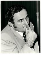 Pierre BOURQUE, Horticulteur en chef, Floralies de Montreal, a la tribune de la Chambre de Commerce de Montreal, le 18 mars 1980<br /> <br /> <br /> PHOTO :  Agence Quebec Presse